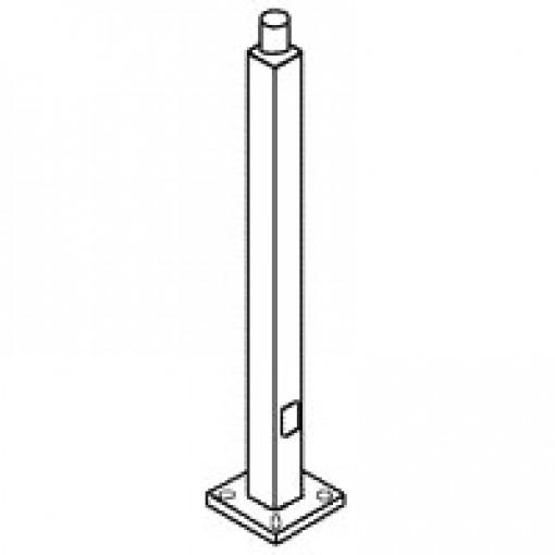 "Rab Led Light Pole: RAB PS5-07-30WT Lighting 30' Light Pole 5x5"" 7ga. Steel"