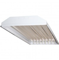 TechBrite 8 Lamp T8 LED Ready High Bay Fixture - No Lamps