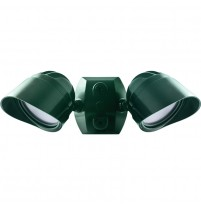 RAB 2x12 Watt LED Adjustable Dual Head Bullet Flood 3000K 120V Verde Green