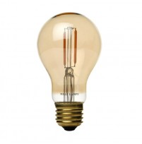 Edison Mills A19 Victorian LED Filament Light Bulb Vintage Amber Glass 2200K